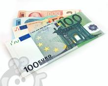 Papirni novčanik u dezenima novčanica