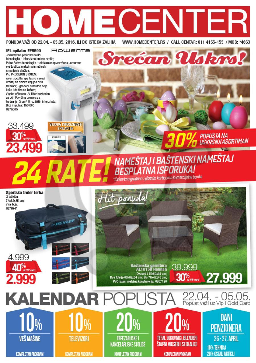 Home Center Katalog Akcija 22.04. - 05.05.2016.  Kuda u ...