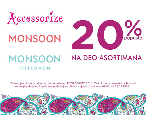 Accessorize, Monsoon i Monsoon Children - sniženje