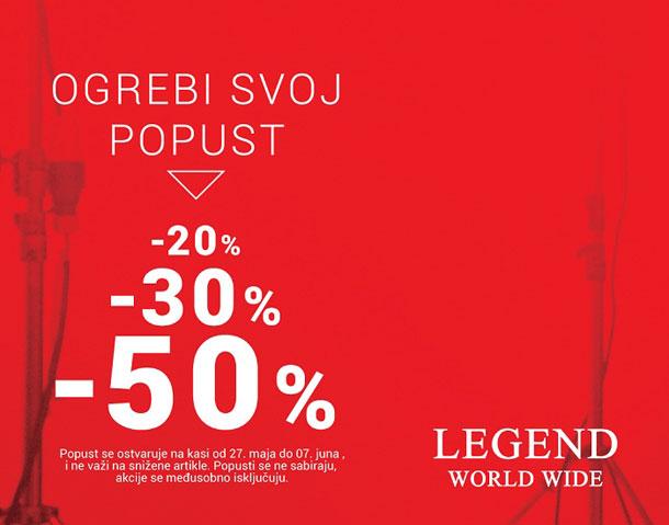 Akcija OGREBI SVOJ POPUST u prodavnici Legend