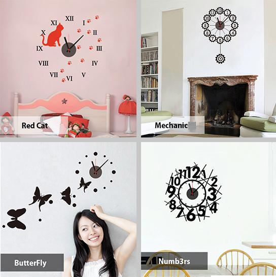 Sticker Clock - Dekorativni satovi za zid u obliku stikera