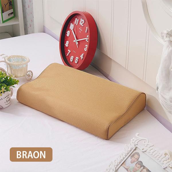 Anatomski jastuk od memorijske pene sa sendvič jastučnicom BRAON