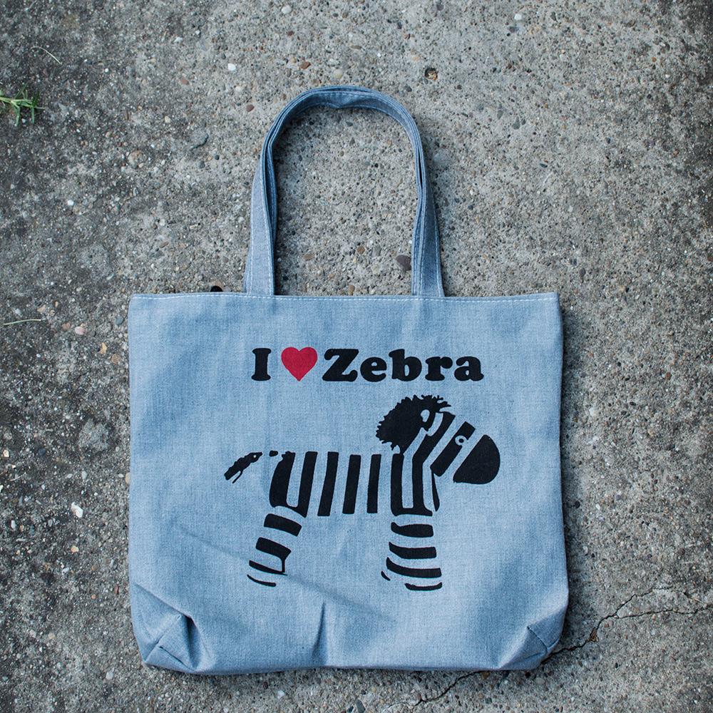 Ceger torba Retro - I LOVE ZEBRA