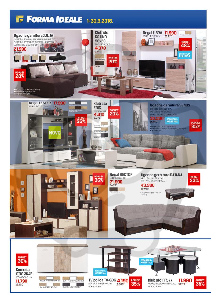 forma ideale name taj katalog akcija septembar 2016 kuda u kupovinu. Black Bedroom Furniture Sets. Home Design Ideas