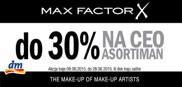Max Factor na sniženju u dm-u