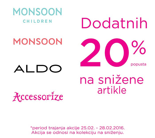 Snižene cene - Aldo, Accessorize, Monsoon