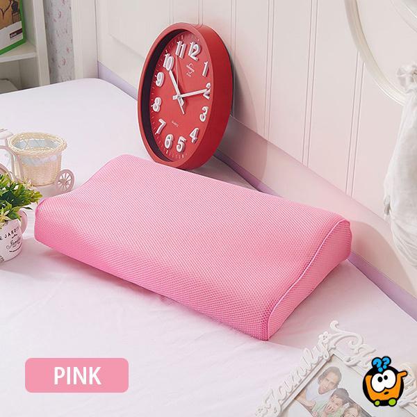 Anatomski jastuk od memorijske pene sa sendvič jastučnicom PINK