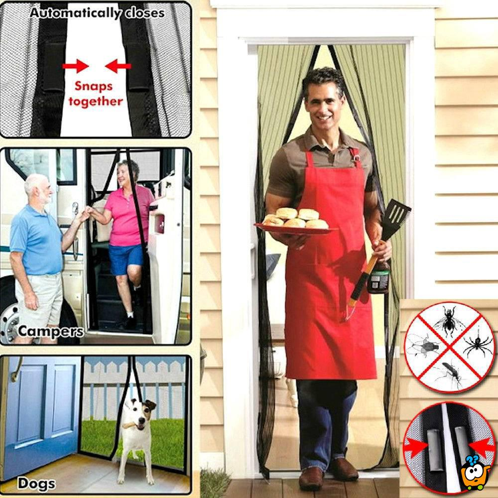 Magična mreža za vrata protiv komaraca