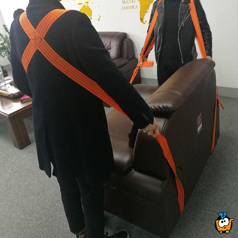 Ručni viljuškar - Trake za lakši prenos nameštaja