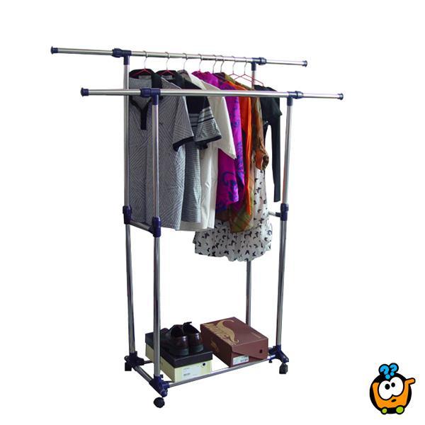 Teleskopska vešalica za odlaganje i sušenje odeće