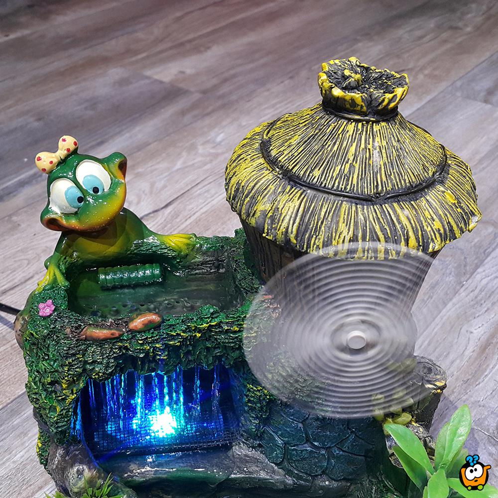 Dekorativna sobna fontana -  Green Frogs & WindMill