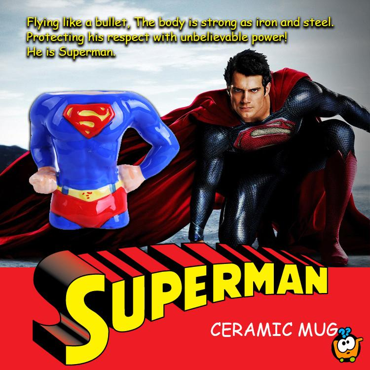 Superman 3D keramička šolja