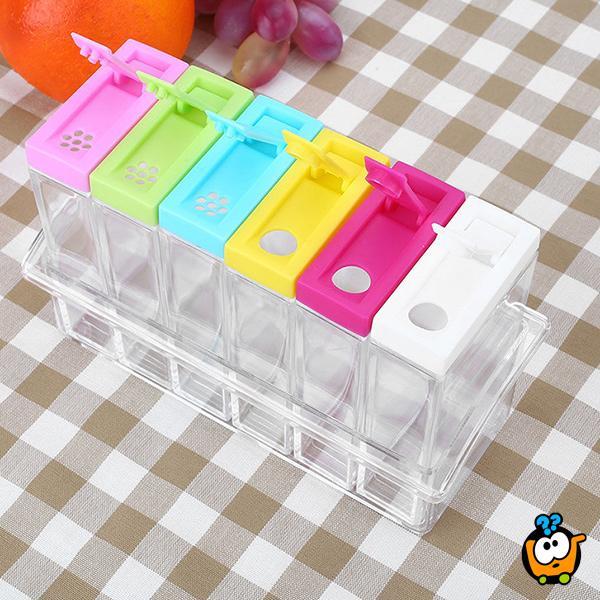Spice Transparent - Set od 6 posuda za skladištenje začina