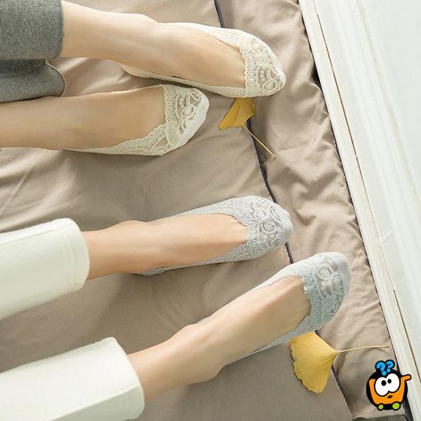 Ženske čarape za baletanke - Čipkaste i neklizajuće