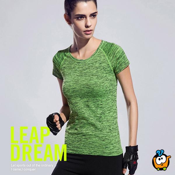 Udobna i praktična ženska majica - Casual-Sport GREEN