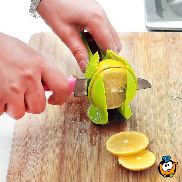 2 u 1 praktičan držač za sečenje voća i povrća + hvataljka