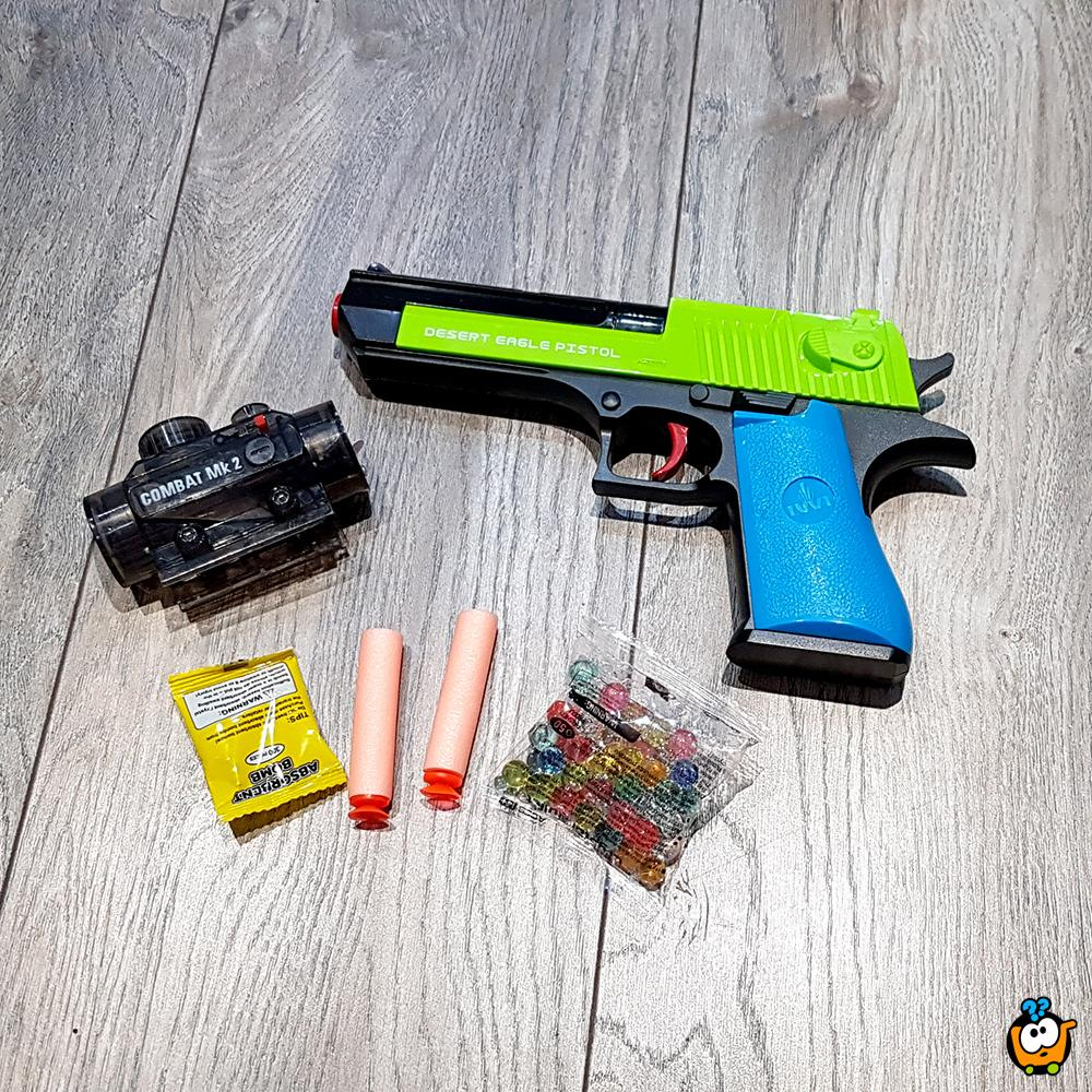 Desert Eagle Crystal Bullet Gun - Igračka pištolj sa svetlosnim efektima i kristalnim metkićima