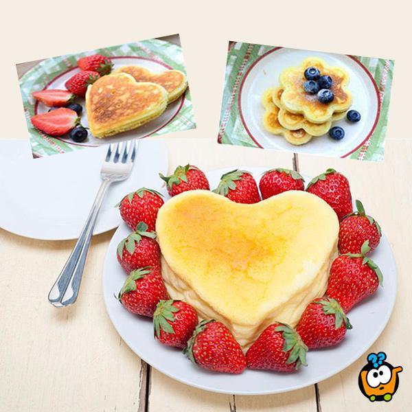 Flippin Fantastic Pancakes - Silikonska modla za palačinke sa 4 oblika