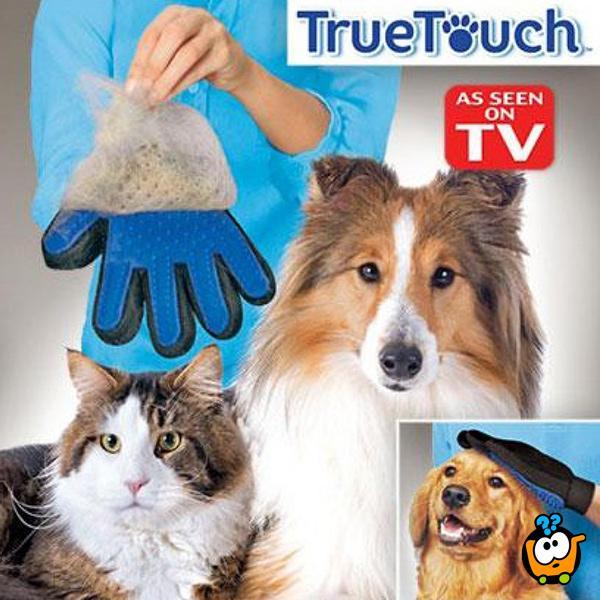True Touch Pet Glove - Čarobna rukavica za nežno i detaljno doterivanje dlake Vašeg ljubimca
