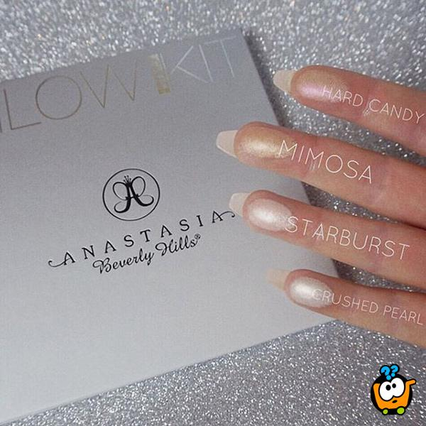 Anastasia Beverly Hills - GLEAM set od 4 nijanse hajlajtera