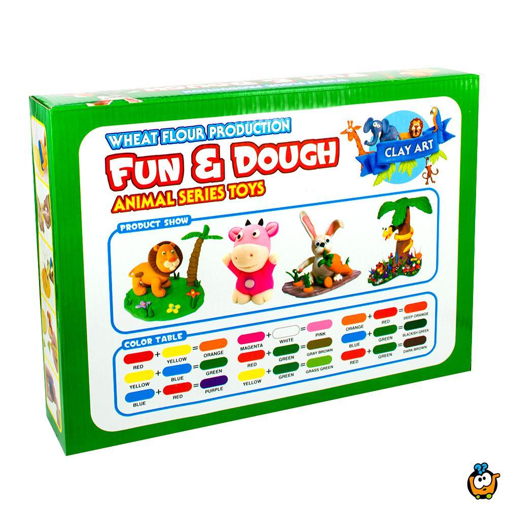 FUN & DOUGH čarobno testo - Plastelin za oblikovanje i igru - Set Životinjsko carstvo