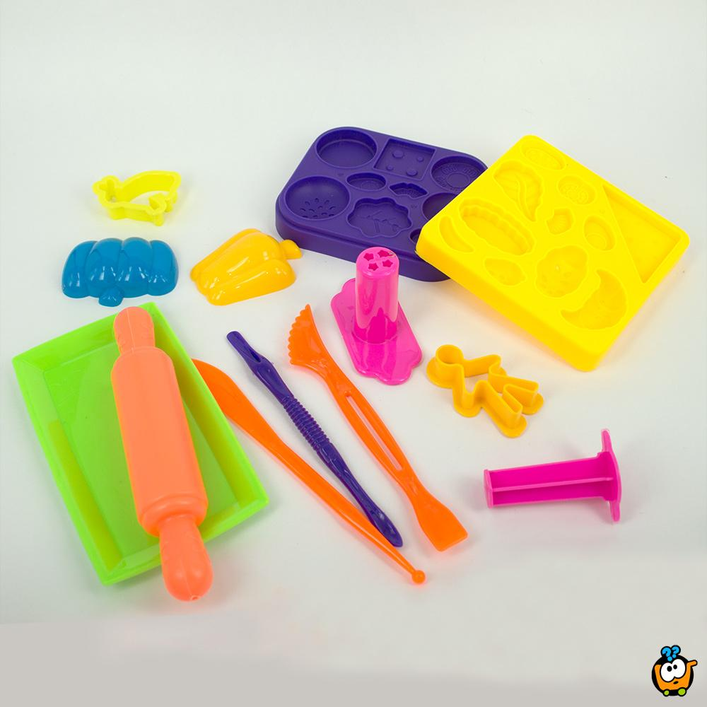 FUN & DOUGH čarobno testo - Plastelin za oblikovanje i igru - Set za pravljenje veselih hamburgera