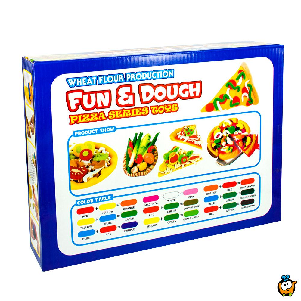 FUN & DOUGH čarobno testo - Plastelin za oblikovanje i igru - Set Mini pizza majstor
