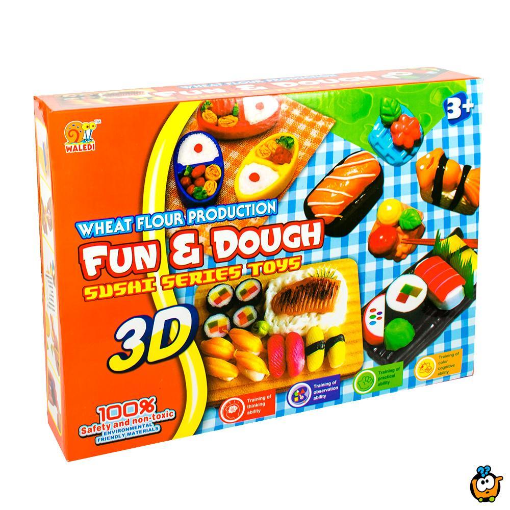 FUN & DOUGH čarobno testo - Plastelin za oblikovanje i igru - Set  Sushi majstor
