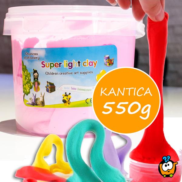 Kinetička glina - Super Light Clay kantica 550g