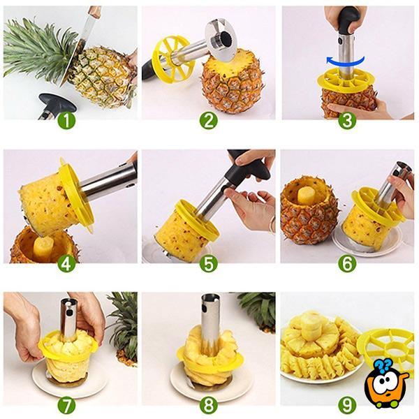 Pineapple cutter - Ručni secko za ananas sa vakuumom