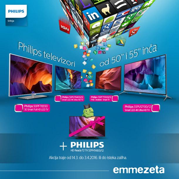 Emmezeta - Philips  televizori na akciji!