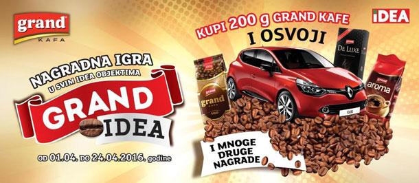 Uživajte u omiljenoj Grand kafi i osvojite Renault Clio