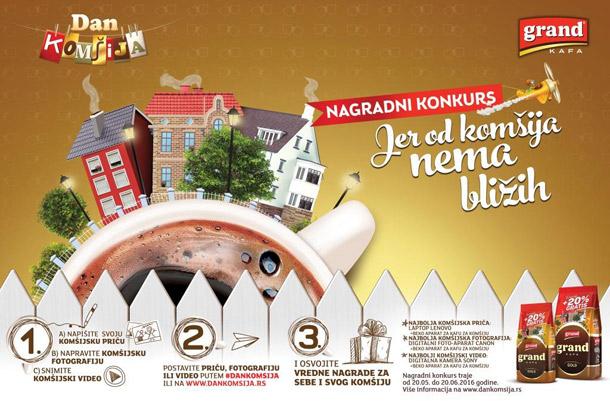 Nagradni konkurs Grand kafe u slavu komšiluka