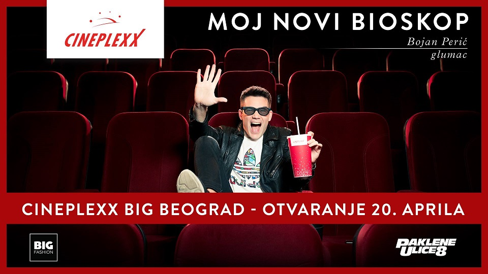 Bioskop Cineplexx u Big Fashion šoping centru na Karaburmi!