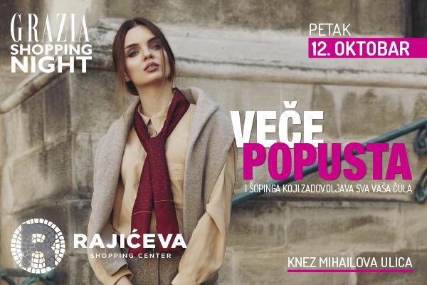 Grazia Shopping night u centru Beograda - 12.oktobar 2018.