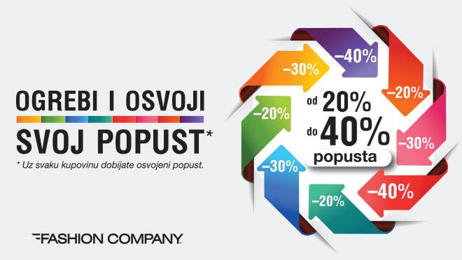 Fashion Company - OGREBI i OSVOJI POPUST DO 40%
