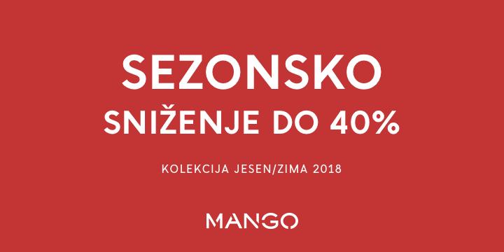 MANGO SEZONSKO SNIŽENJE DO 40%