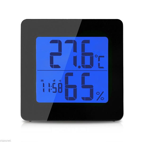 Emate - Digitalni termometar, merač vlažnosti, sat + alarm
