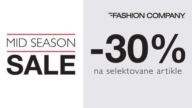U prodavnicama Fashion Company uz 30% popusta na određene artikle!