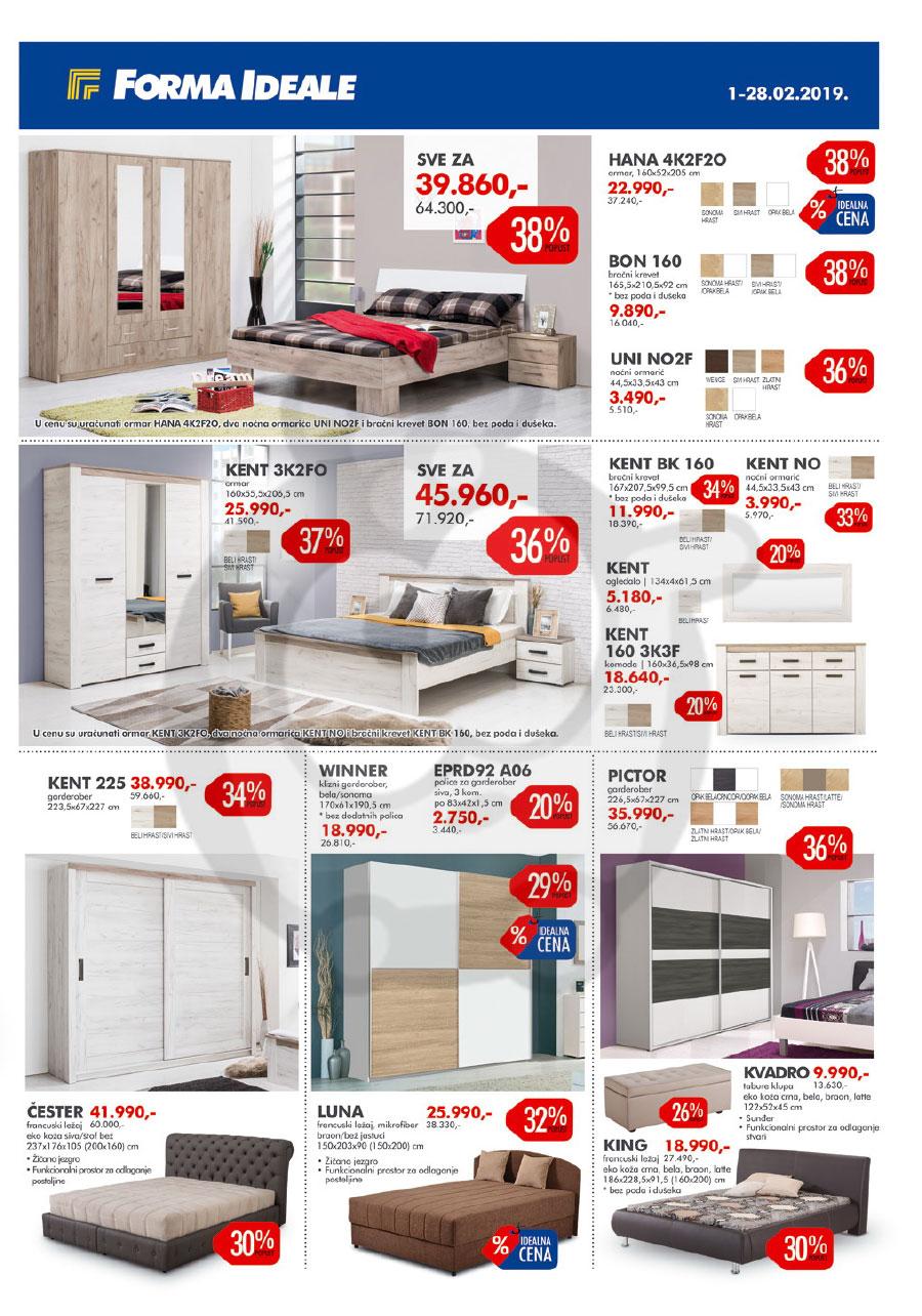 forma ideale name taj katalog akcija februar 2019 kuda. Black Bedroom Furniture Sets. Home Design Ideas