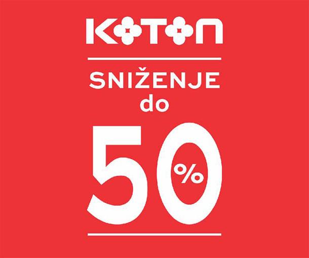 Do 50 % popusta u Kotonu