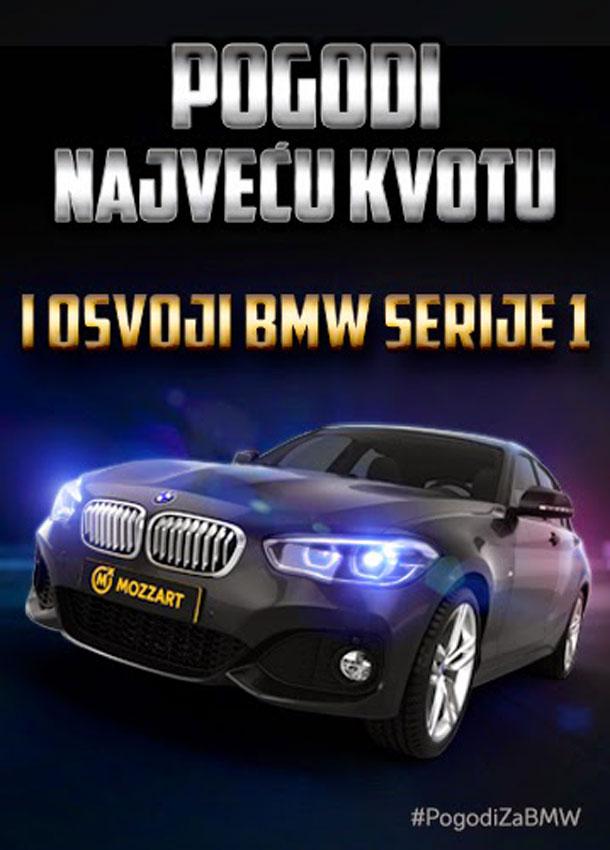 Pogodi najveću kvotu za  BMW serije 1!