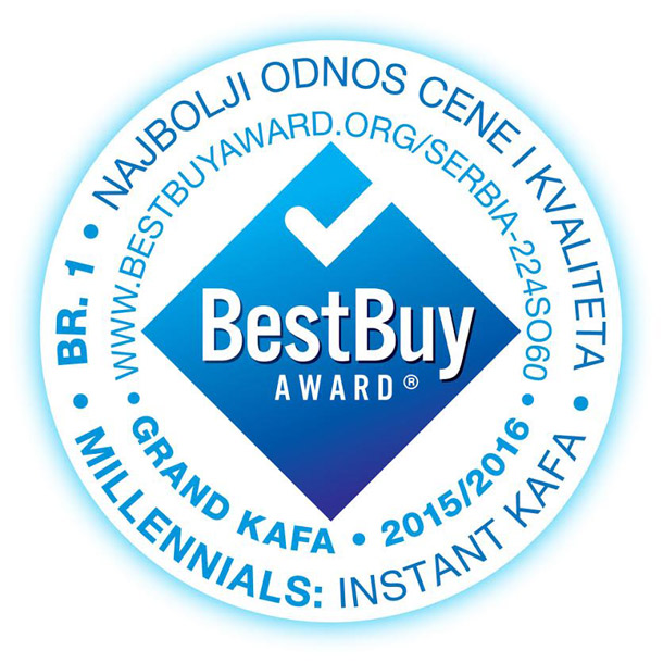 Grand kafa instant dobitnik nagrade BEST BUY AWARD!