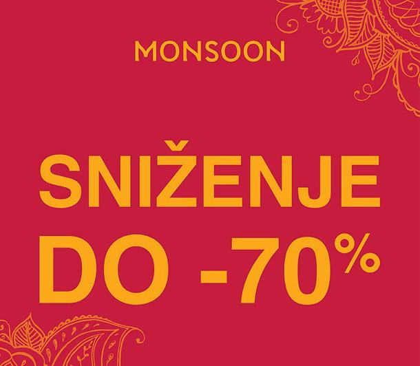 Finalno sniženje u prodavnici Monsoon!
