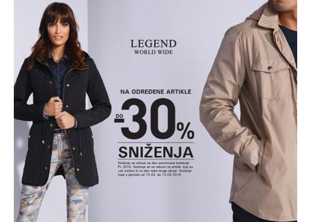 Sniženje u Legend prodavnici na kolekciju proleće/leto!
