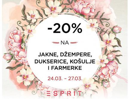 Sniženje u prodavnici Esprit!