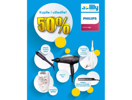 Lilly drogerie i Philips program lojalnosti