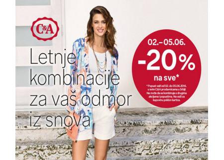 C&A letnje kombinacije po posebnoj ponudi!