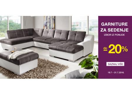 Emmezeta ponuda: Do -20% garniture za sedenje