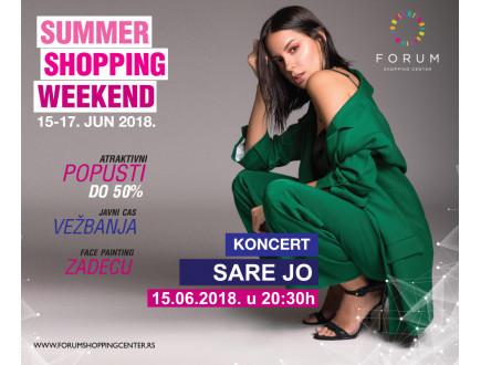 Početak sezonskih sniženja uz koncert SARE JOVANOVIĆ u FORUM SC